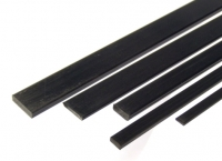 Rectangular Carbon Fibre Rod 1.0x4.0 x 1000 mm